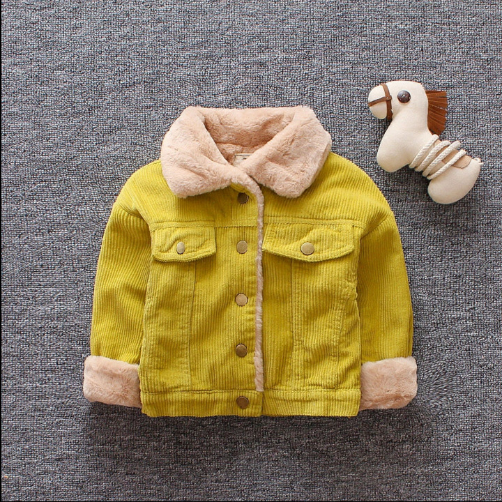 Boys Jacket Outerwear Padded-Coat Kids Clothes Velvet Winter 1-3-Years-Old Children's