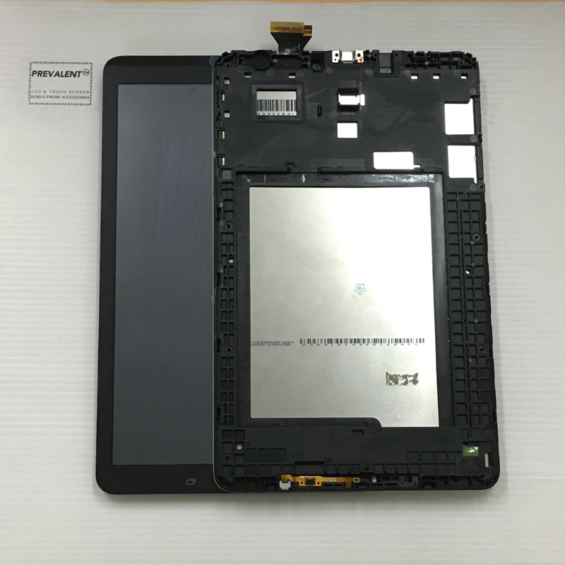 For Samsung Galaxy Tab E 9.6 T560 SM-T560 SM-T561 Touch Screen Digitizer Sensor + LCD Display Panel Monitor Assembly + Frame
