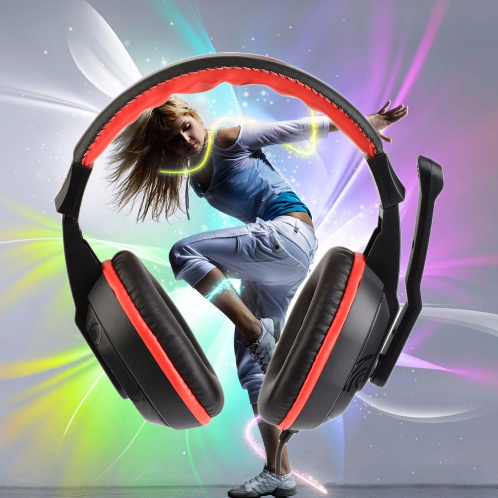 3.5mm Top Quality Adjustable Game Gaming Headphones Stereo Type Noise-canceling