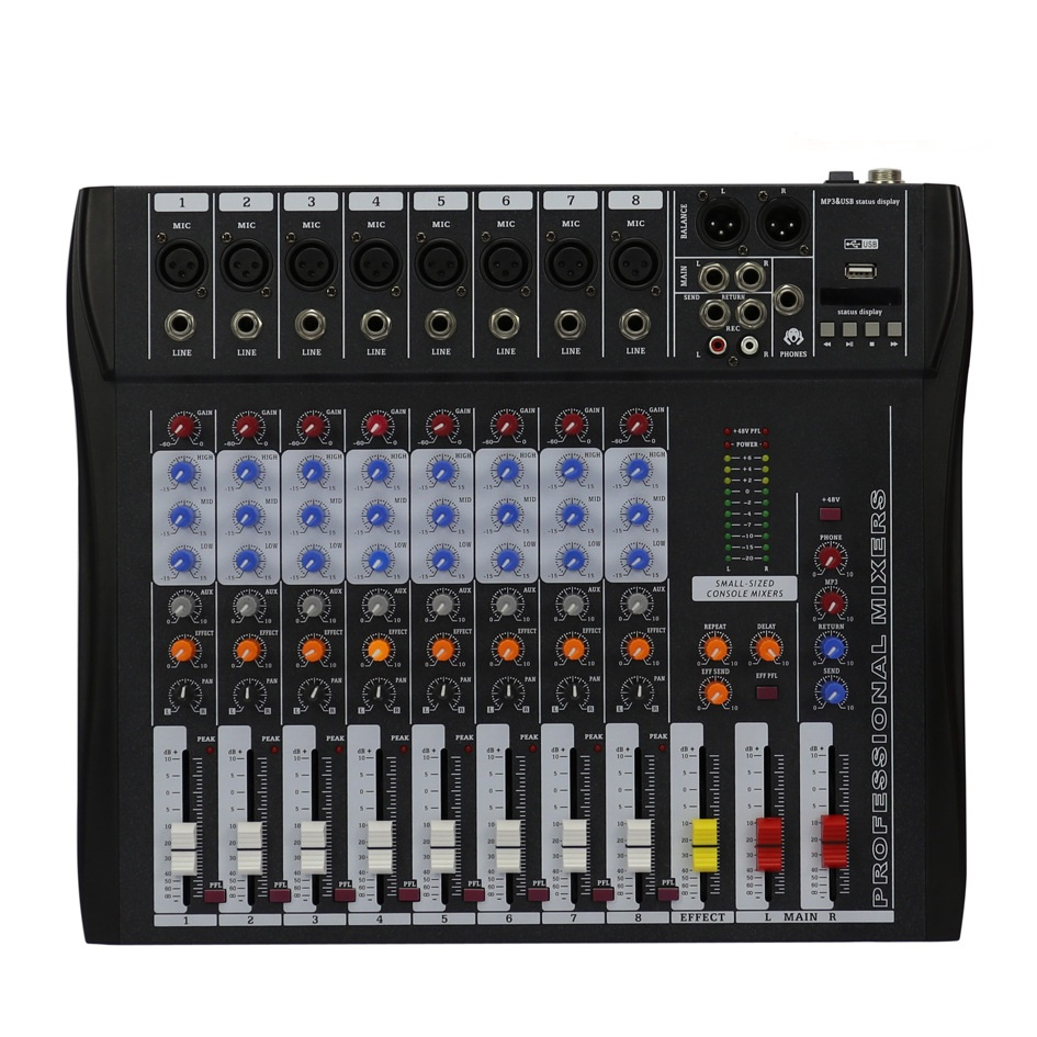 Professional Mixer 8 Channels Mixing console For small show and meeting home show цены
