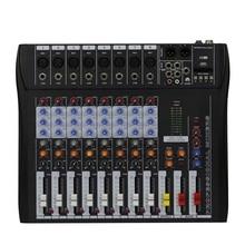 8 Canais Mixing console Mixer profissional Para mostrar pequenas e reunião show em casa