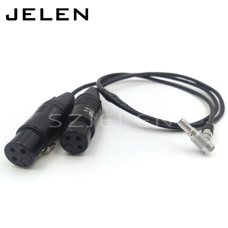 Two 3-pin XLR Female to 5-pin Audio Input Cable for Alexa Mini arri camera dual channel audio signal line xlr 5 pin male for two 3 pin xlr connector female cable length 0 5m