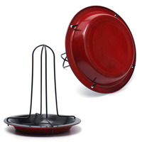 BBQ Accessories Carbon Steel Upright Chicken Roaster Rack With Bowl Tin Non Stick Cooking Tools Hot