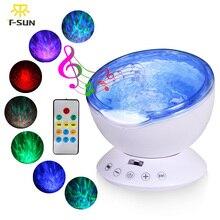 T-SUNRISE Fal Oceanicznych Muzyki, Noc, Lekki Projektor z Wbudowaną Mini Odtwarzacz muzyczny USB Lampa LED light Night dla Dziecka Dzieci pokój