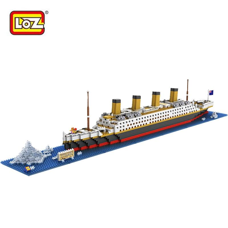 LOZ RMS Titanic Ship Model 3D diy Building Blocks Toy Titanic Boat Educational Birthday Gift for Children Compatible with Legoe