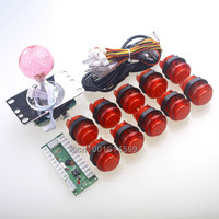 New Reyann Arcade MAME DIY Kit LED USB Encoder 5 Pin 4 8 Way LED Joystick