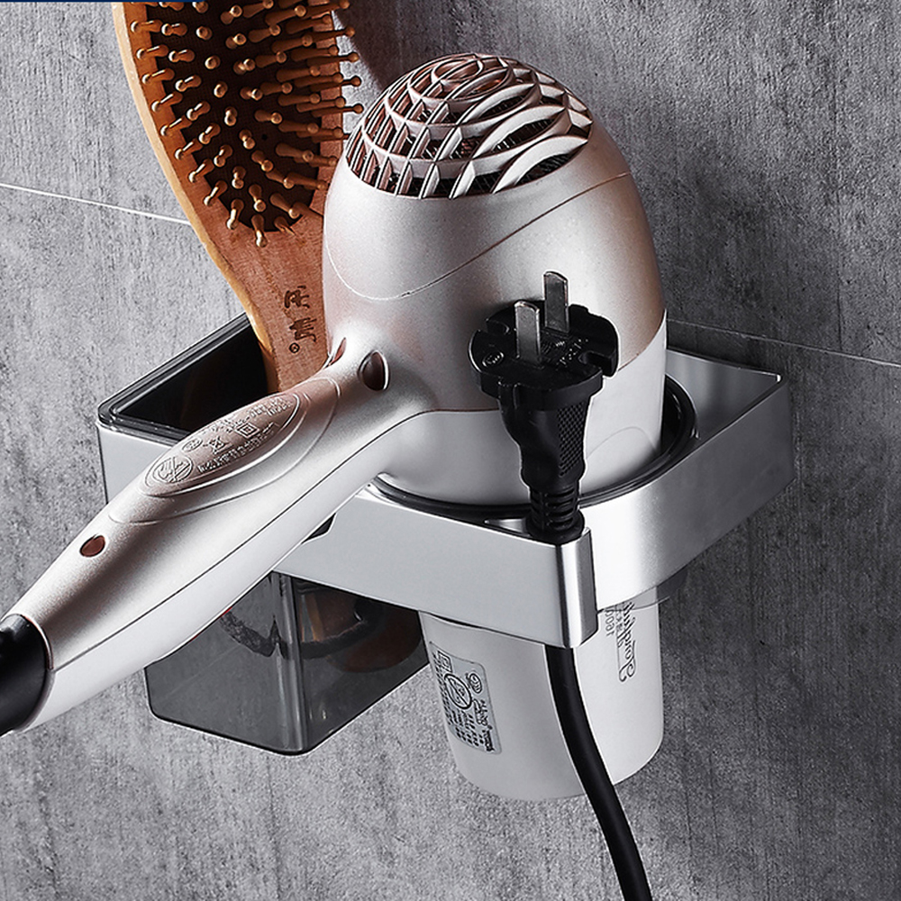 Bathroom Fixtures Twin Flowers Series Carving Antique Brushed Hair Rack Novelty Households Rack Hair Blow Dryer Holder Wall Hang Bathroom Shelf And To Have A Long Life.