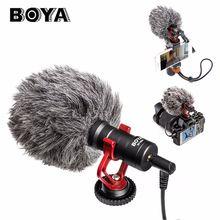 BOYA BY MM1 On Camera Video Shotgun Interview Microphone for iPhone HuaWei Smartphone DJI Osmo Zhiyun Smooth Q Canon DSLR