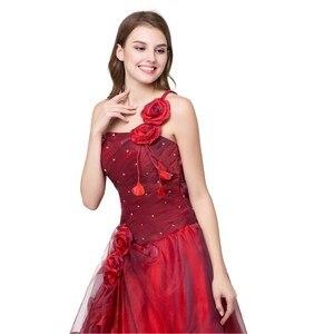 Image 4 - Ruthshen BallชุดQuinceaneraเดรสVestidos De 15สีแดงหวานสิบหกชุดหนึ่งไหล่Debutante Gowns Robe De Bal 2019