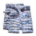Plus Size Loose Camouflage Cargo Shorts Straight Mid Waist Knee Length Men Casual Cotton Overalls Summer 2017 New Arrival