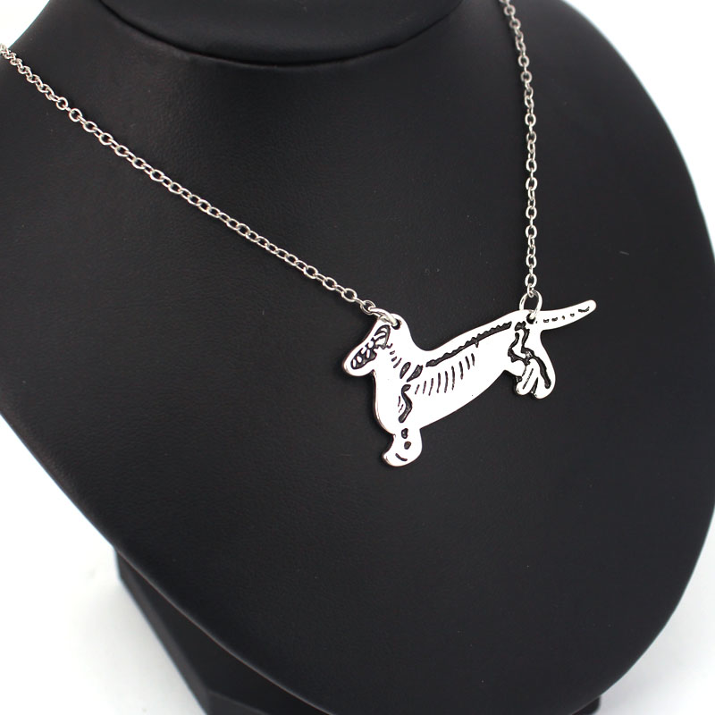 hzew dachshund skeleton pendant necklace dog neckalces veterinarian gift in Chain Necklaces from Jewelry Accessories