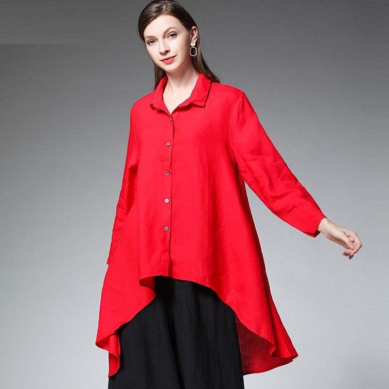 edb446d4e11d € 31.84 35% de DESCUENTO|2019 de moda ramio Camisa larga paloma cola  irregular blusa cuello asimétrica tops casual plus tamaño ropa 4XLL en  Blusas y ...