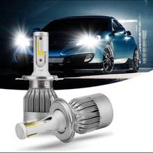 2X H7 светодио дный H4 автомобиля Headlights72w 7600lm автомобиля светодио дный лампочки H1 H8 H9 H11 автомобилей фары 6000 К светодио дный 12 В Противотуманные огни C6 автомобиля светодио дный
