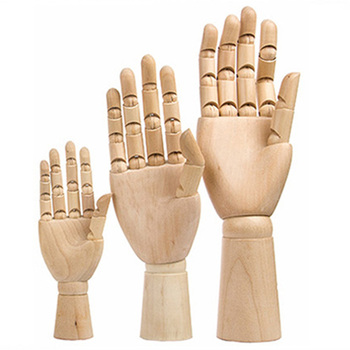 7inch/8inch/10inch/12inch Wooden Left/Right Hand Body Artist Model Jointed Articulated Wood Sculpture Mannequin E2S