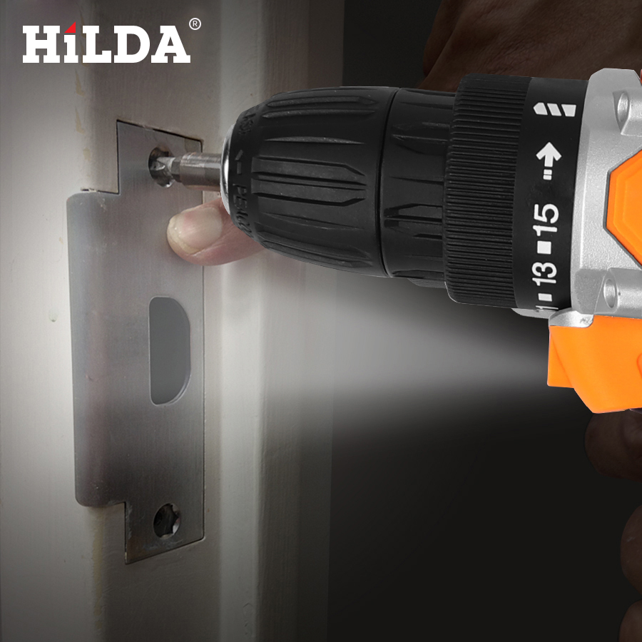 Image 5 - HILDA 12V Electric Drill With Rechargeable Lithium Battery Electric Screwdriver Cordless Screwdriver Two speed Power Tools-in Electric Screwdrivers from Tools on
