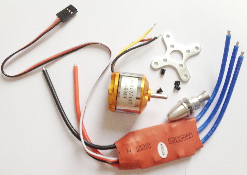 Moteur Outrunner A2212 1000KV 2200 sans balai + ESC 30A SimonK + 1045 - Jouets avec télécommande - Photo 5