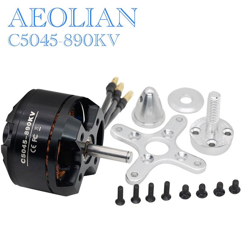 Aeolian 6mmm main shaft 5045 890kv electric DC motor for RC airplane quadcopter skate board