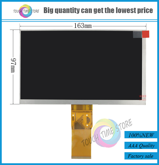 New 7 inch 50pin LCD screen KR070PM7T 10303007130 for Three Mei Qi MiKi691  tablet pc free shipping-in Tablet LCDs & Panels from Computer & Office on