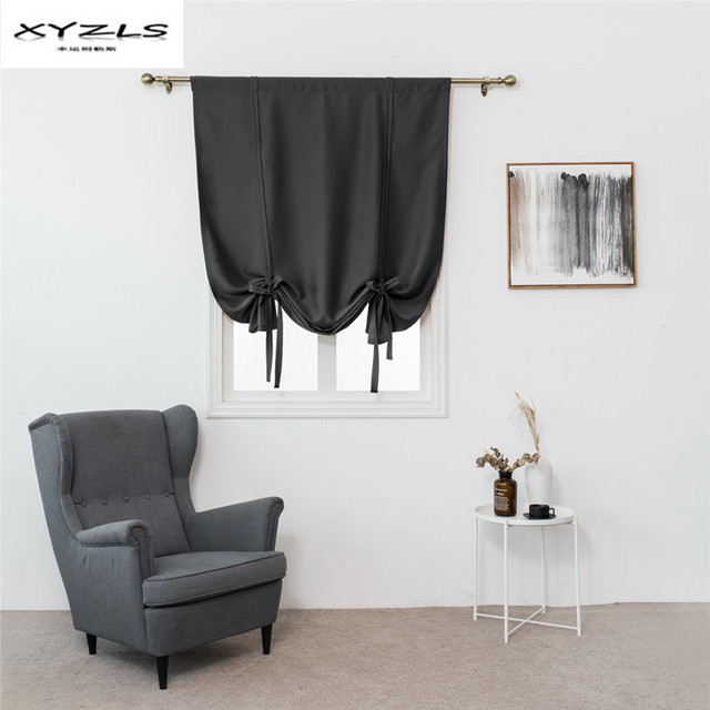Xyzls Roman Blinds Short Kitchen Curtains Solid Color Blackout