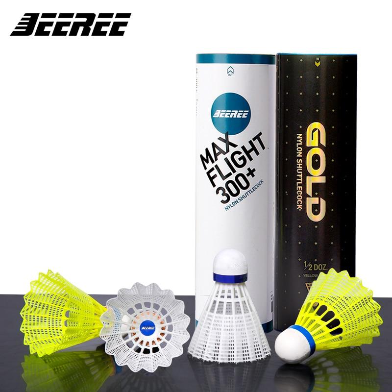 6Pcs/lot nylon Feather Shuttlecock Durable Training Badminton Ball  Racquet Sports Best Durability High performance