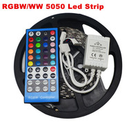 5 M 300 Leds Elastyczne RGBW 5050 SMD LED Strip Wodoodporna/Dla wodoodporna DC12V led Light + RGBW 40key IR pilota