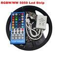 5 M 300 Leds RGBW Flexível 5050 SMD Tira CONDUZIDA Luz À Prova D' Água/Não-impermeável DC12V RGB + Branco Fita diodo + 40key IR Remoto RGBW