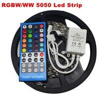 5M 300Leds Flexible RGBW 5050 SMD LED Strip Light Waterproof DC12V RGB+White Diode Tape +RGBW 40key IR Remote