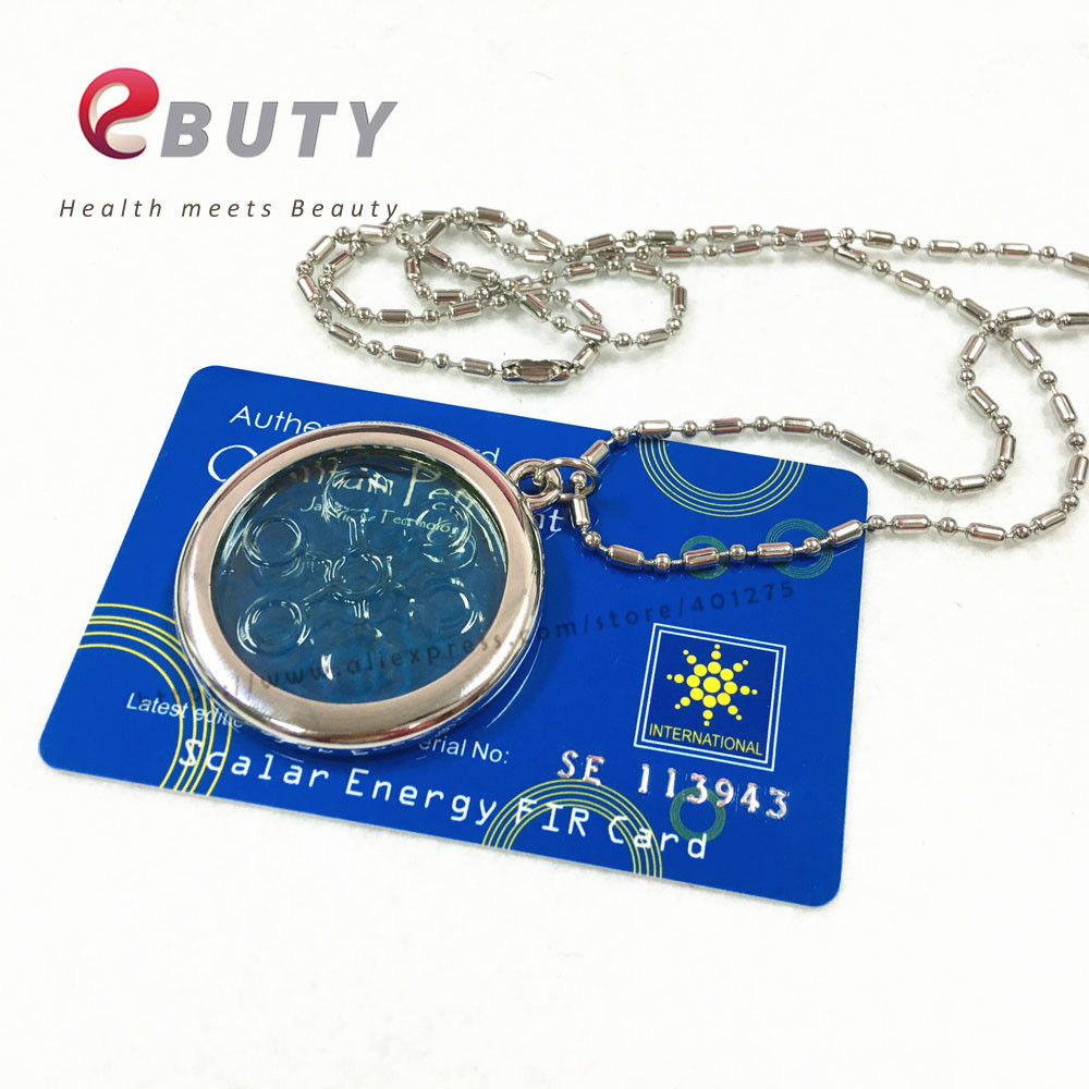 High Ions 6000CC Energy Pendant Bio Disc Pendant Quantum Scalar Charms with Stainless Steel Chain Light Green 10pcs/lot Free
