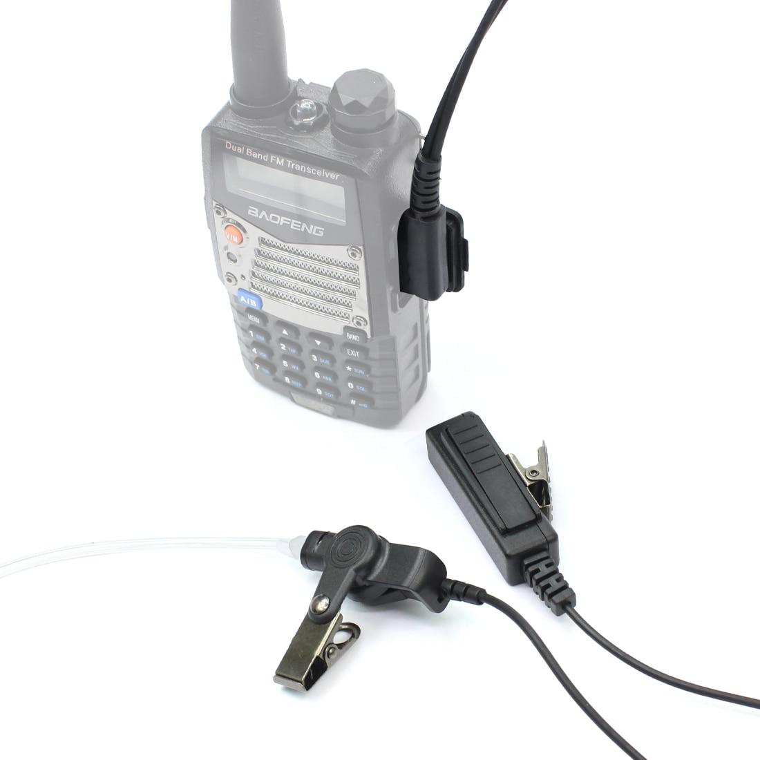 PTT Mic Covert Acoustic Tube Earpiece Headset for Kenwood Retevis BF-888s HYT US