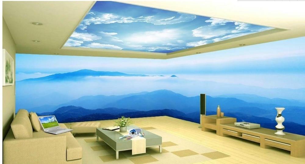 Custom 3d Wallpaper Murals Sea Sky Space Theme Bedroom