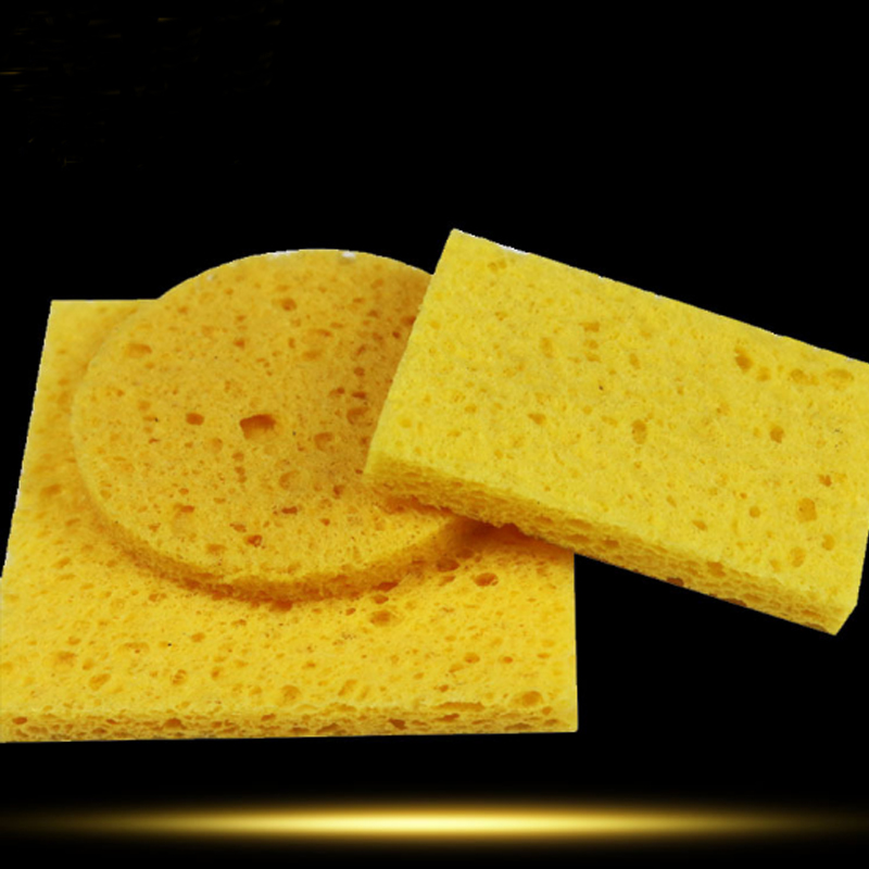 5pcs High Temperature Resistant Sponge Cotton Rectangular Round Square Electric Iron Head Soldering Station Cleaning Sponge