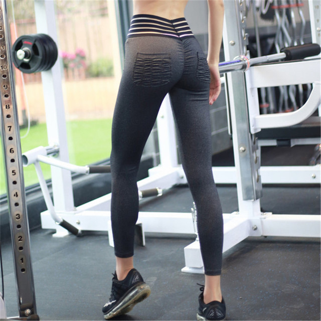 5b172fcad4dee ESHINES 2018 NEW Waist Hollow Design Women Yoga Pant Sexy Hip Fitness  Leggings Cool girl Gym Workout Sports Tight Leggings