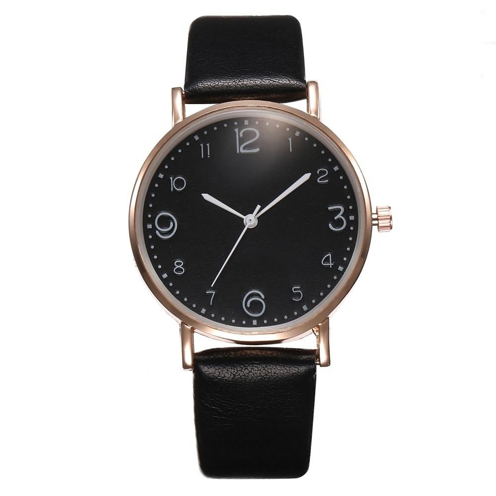 Relógio Feminino com Pulseira de Couro Quartz Analógico 10