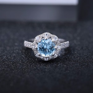 Image 3 - Gems Ballet New Arrivals Natural Sky Blue Topaz Rings Genuine 925 sterling silver Wedding Engagement jewelry For Women