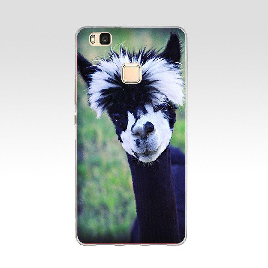 5G Alpacas Alpaca Christmas For Huawei P9 Lite Case Cover Soft Silicone TPU Cover Back Protective For P9 Lite Case