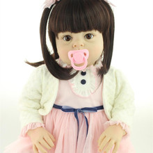 70cm 28″ Big Size Toddler Girls soft Vinly Silicone Reborn Baby Dolls Princess Lifelike Girl Dolls Children Toys Clothing Model