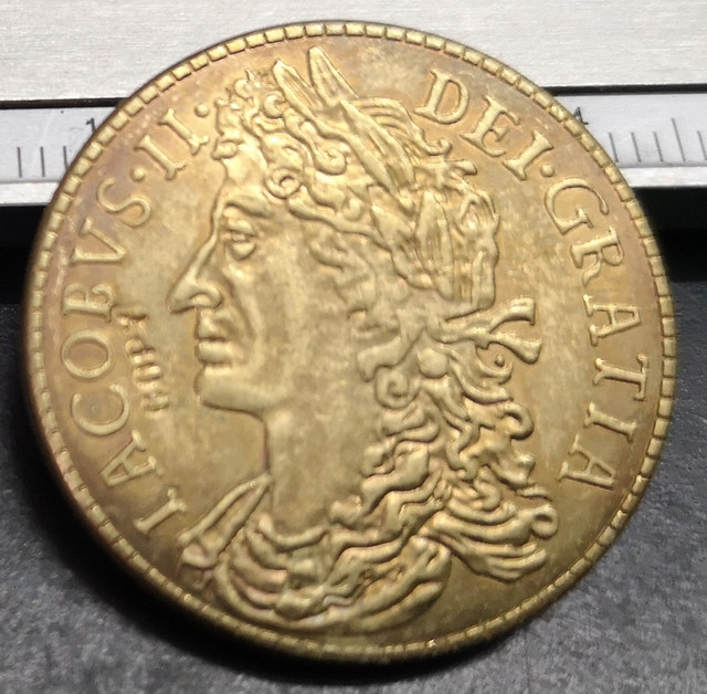 Pièce de reproduction en laiton irlande | 30 Pence-James II, 1690
