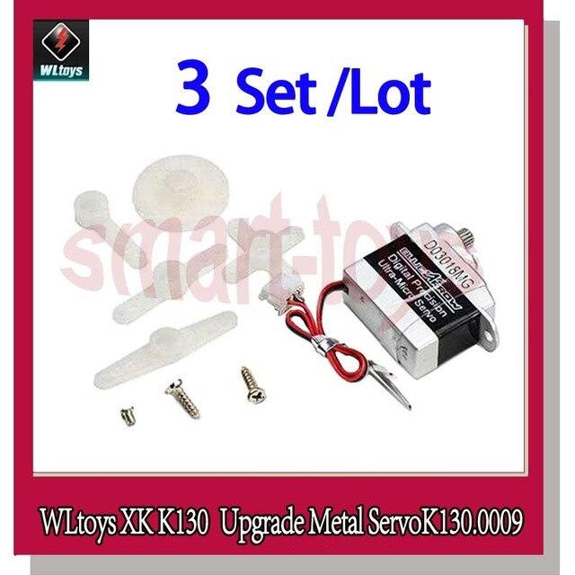 WLtoys Bluearraow D03018MG XK K130 อัพเกรด Servo K130.0009 สำหรับ WLtoys K130 RC เฮลิคอปเตอร์