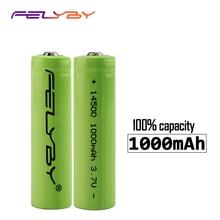 FELYBY 2-20pcs Original high quality AA 3.7V 14500 lithium ion Battery 1000mAh Li-ion Rechargeable Battery for flashlight стоимость