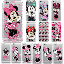 Cute Mickey Minnie mouse Love Bow Phone Case For iPhone XR XS MAX X 7 6 8 Plus 4S 5 5S SE 6S Girl gifts Soft TPU Silicone Cover