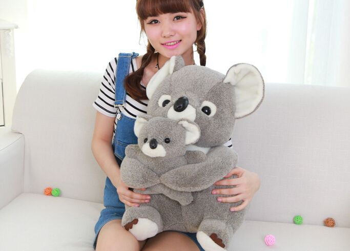 big plush koala toy lovely stuffed gray koala monther&baby doll gift about 55cm big lovely simulation cow plush toy creative stuffed cow doll birthday gift about 75cm