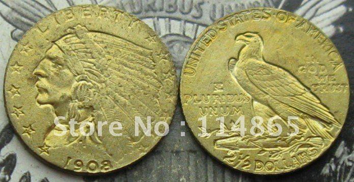 USA 1908-1929 $2.50 Indian Head Quarter Eagle Gold Coin COPY COIN FREE SHIPPING