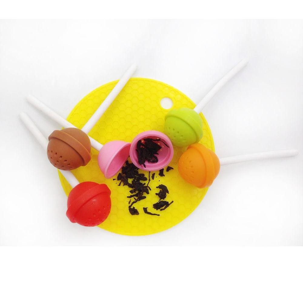 Coffee & Tea Accessories: Silicon Sweet Tea Infuser Candy Lollipop Loose Leaf Mug Strainer Cup Steeper