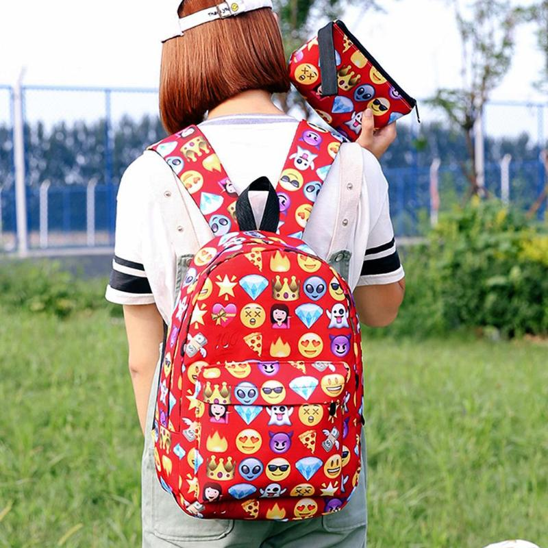 3d Cute Smile Printing Backpacks Women Teenage Girls Travel Nylon Shoulder School Bags Rucksack Hot Sale Students New Backpack #6