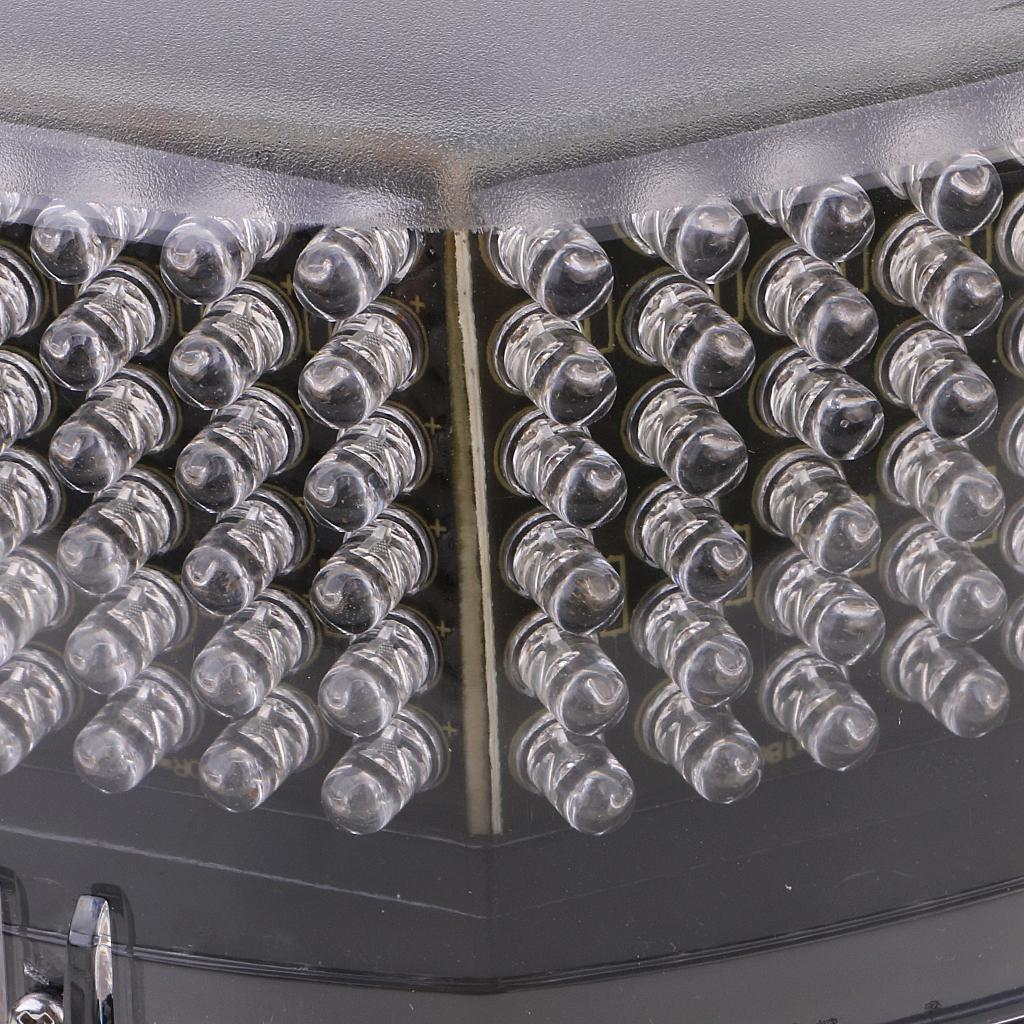 240 LED Car Truck Flash Strobe Round Rooftop Emergency Light Amber/White