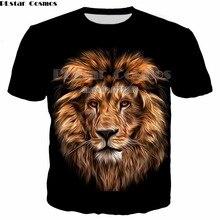 PLstar Cosmos 2018 Summer Mens Casual Tees 3d Lion Printed T-shirt Men 3d Animal Lion T shirts Short Sleeve o-neck T shirt Tops