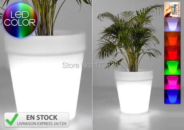 Impermeabile h cm colori illuminato gota planter pot luce led