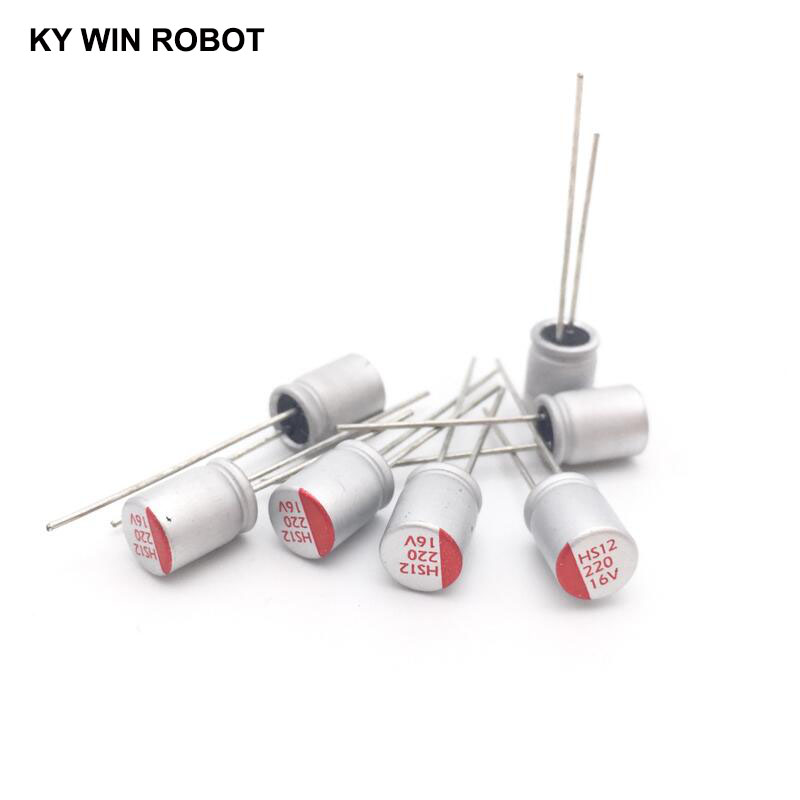 16V220UF 6*9 DIP Solid Electrolytic Capacitor 220UF 16V 6X9mm Solid Sate Capacitor High Quality