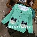 Детские девушки кардиган свитер 2017 весной новый стиль моды милые дети ребенок вязаный свитер