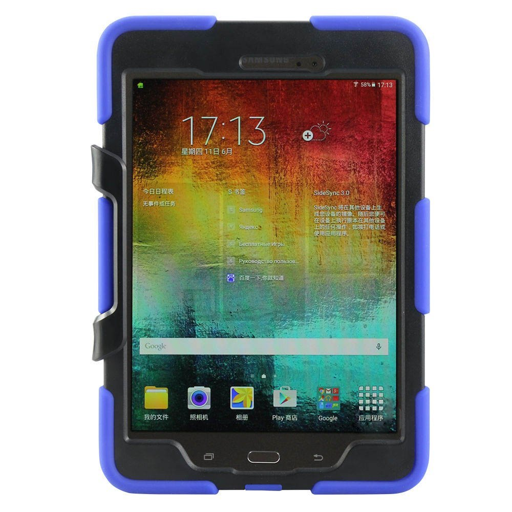 Фото Rugged Full-body Shock Proof Hybrid Heavy Duty Armor Protective Cover Case For Samsung Galaxy Tab A 9.7 Inch SM-T550 Tablet